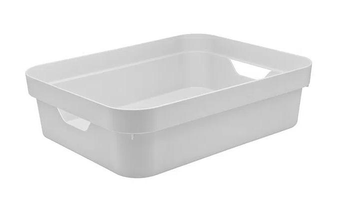 Caixa Organizadora Cube P Baixa Branca