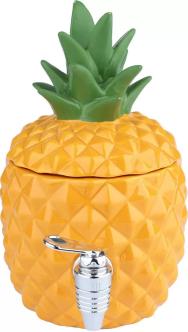 Dispenser Cerâmica Decorativo Pineapple Amarelo