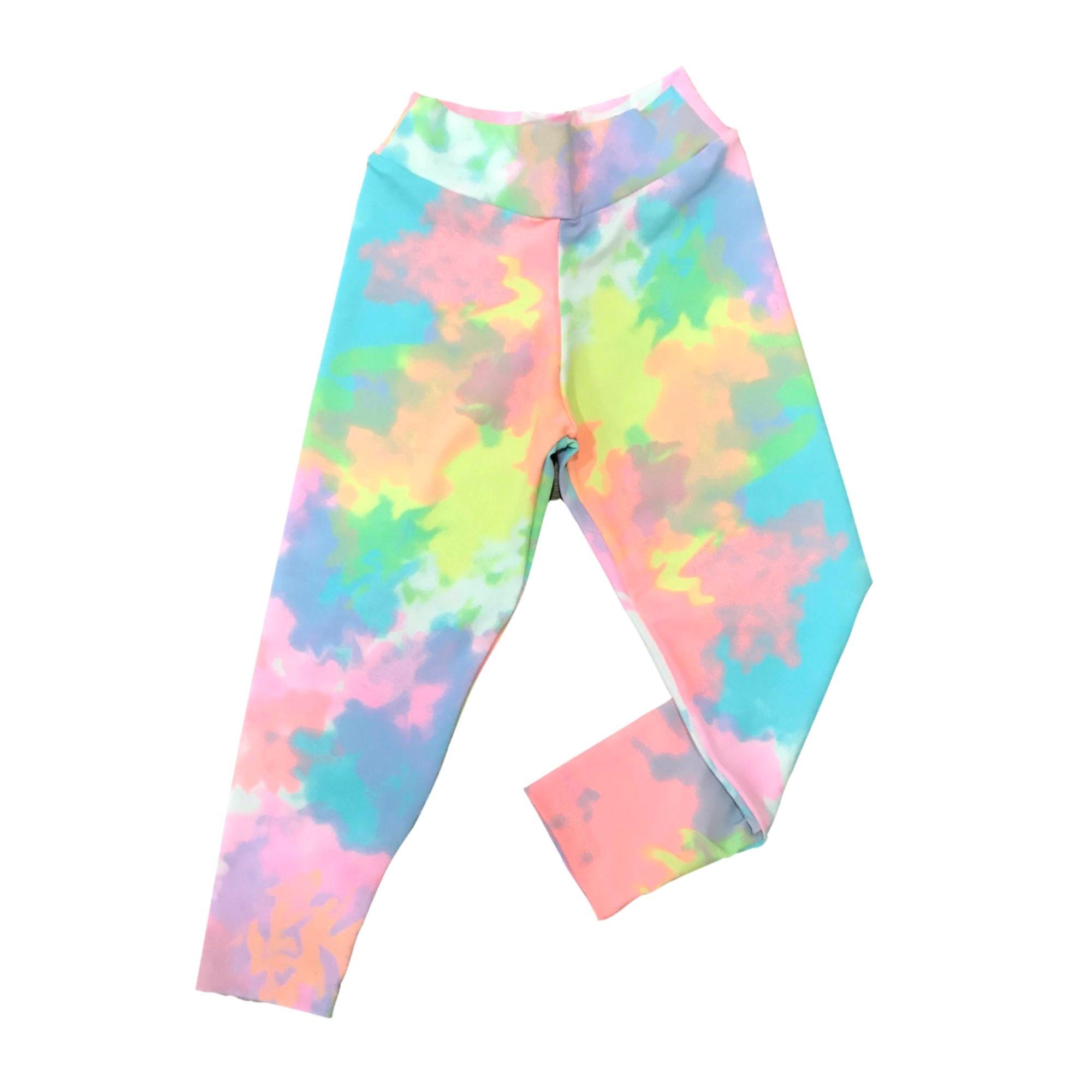 Calça Legging Infantil - Estampa Tie Dye