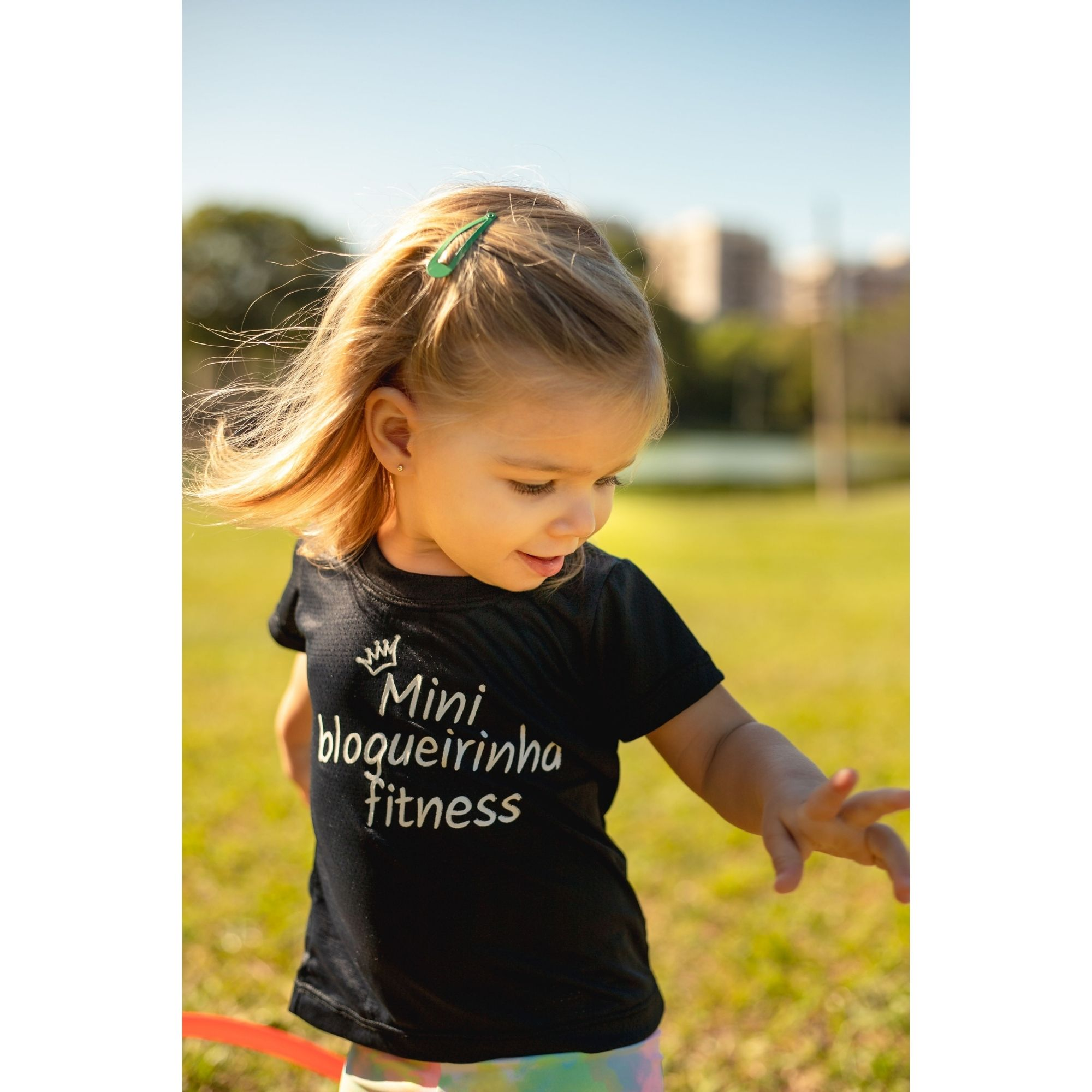 Camisa Dry Fit Infantil - Mini Blogueirinha Fitness