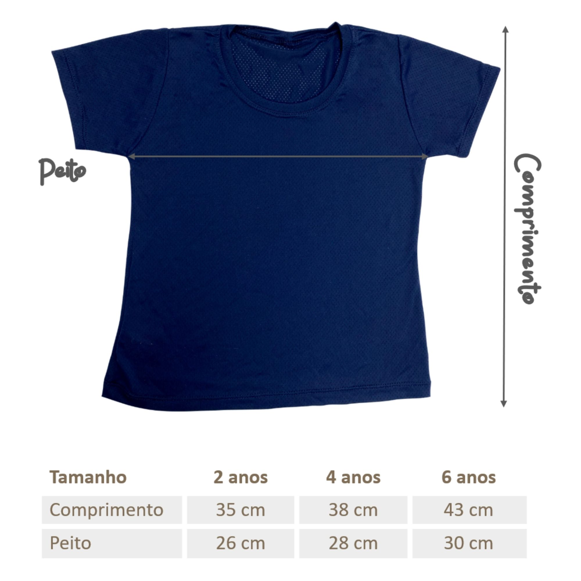 Camisa Infantil Dry Fit - Azul Marinho