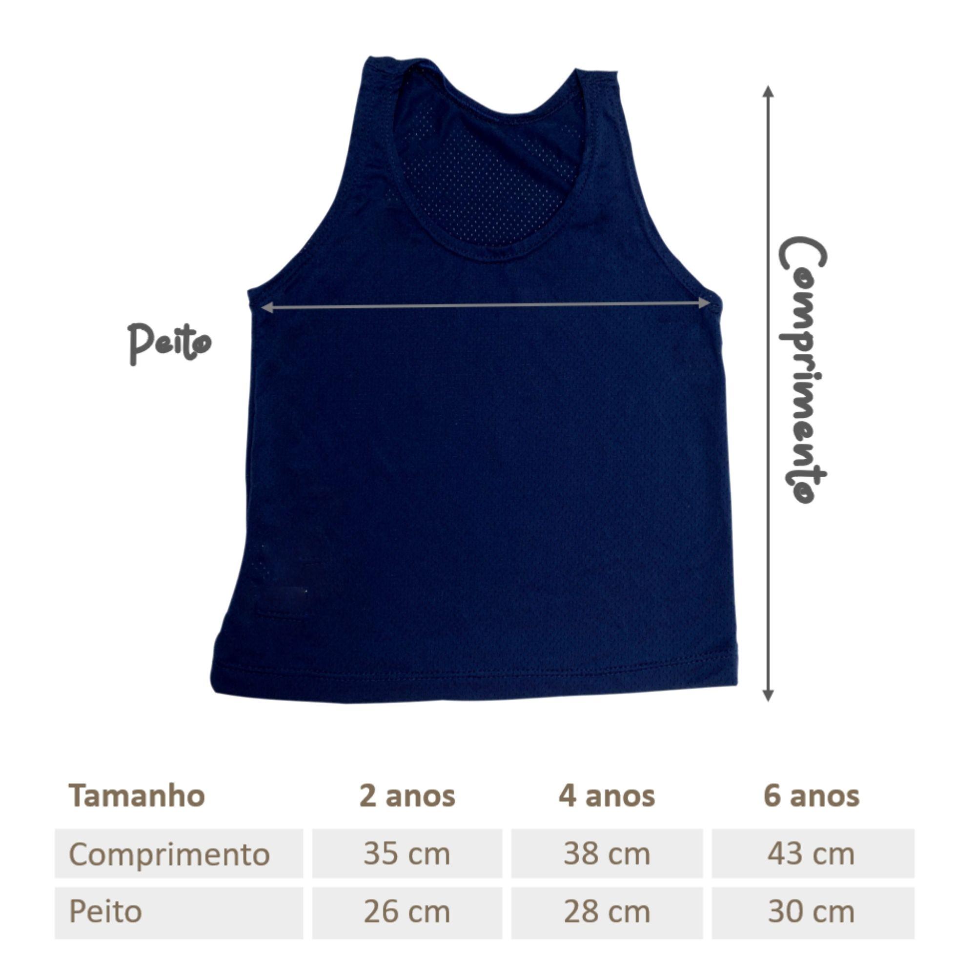 Regata Infantil Dry Fit Azul Marinho