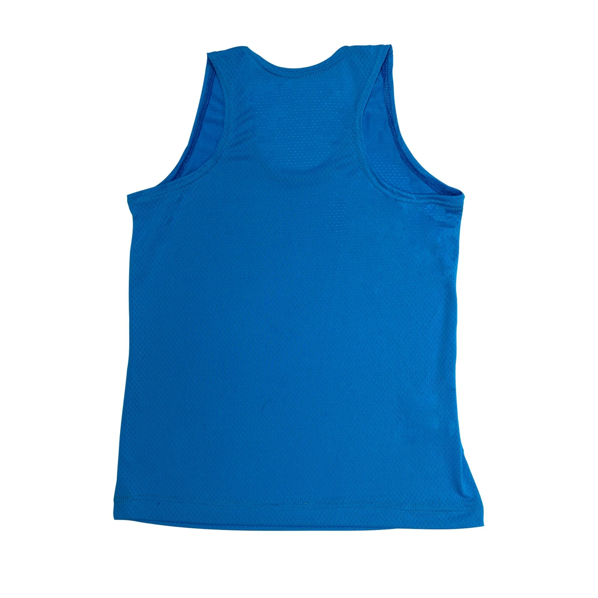 Regata Infantil Dry Fit Azul Neon
