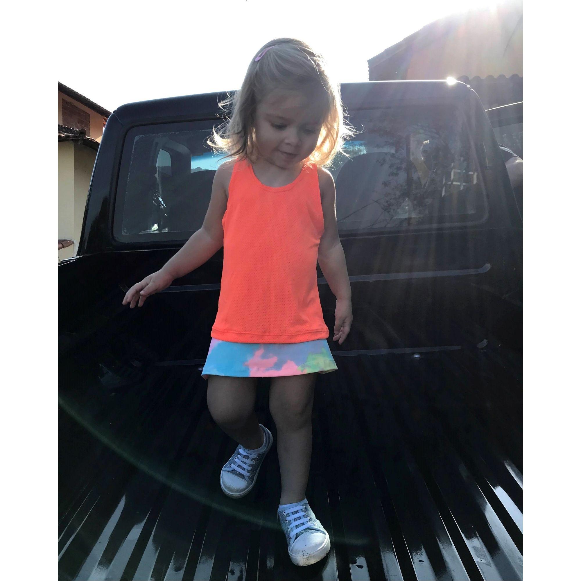 Regata Infantil Dry Fit Laranja