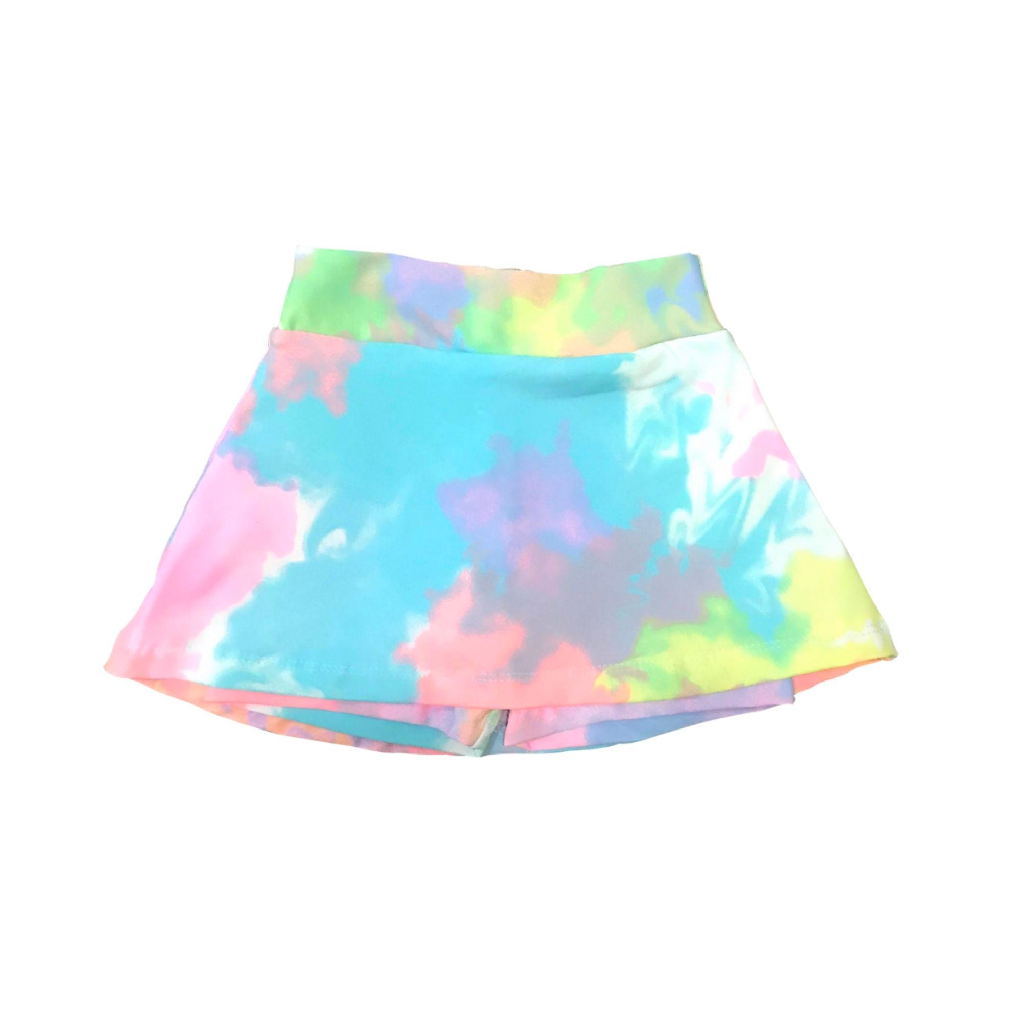 Saia Short Suplex Infantil - Estampa Tie Dye