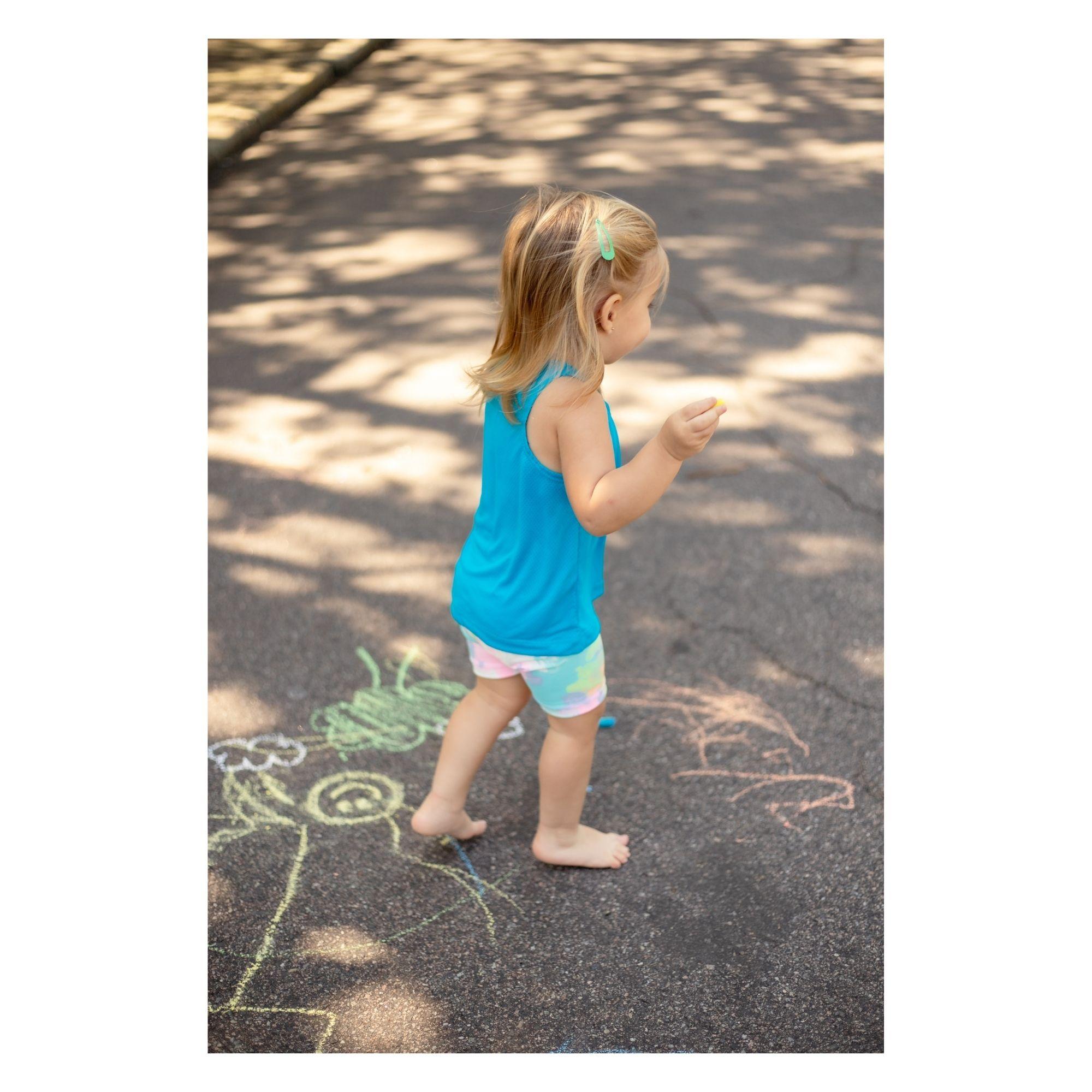 Short Suplex Infantil - Estampa Tie Dye