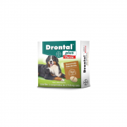 Vermífugo Drontal Plus 2,718mg Carne 35Kg - 2 Comprimidos