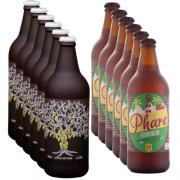 Cervejas IPA 10% OFF - 6 unidades 600ml English IPA+ 6 unidades 600ml IPA cacau