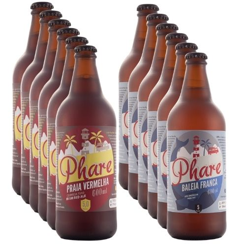 Cervejas 25 % OFF - 6 unidades APA 600ml +  6 unidades Red Ale 600ml