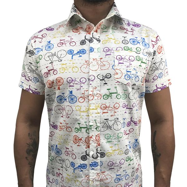 Camisa Manga Curta Bike Color  - Toolstoy