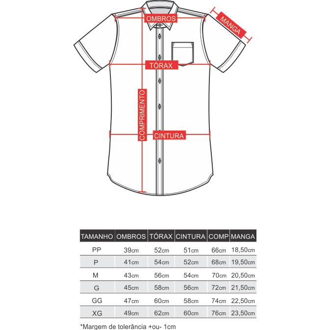 Camisa Manga Curta Kombi  - Toolstoy