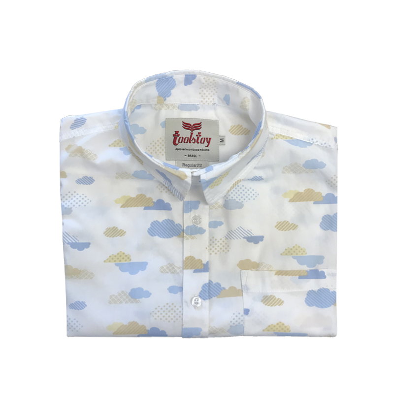 Camisa Manga Curta Nuvem  - Toolstoy