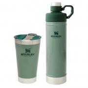 Kit Copo 473ml e Garrafa Hydration 750ml Verde - STANLEY