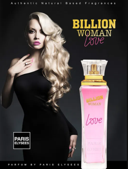 BILLION WOMAN LOVE PARIS ELYSEES 100 ml