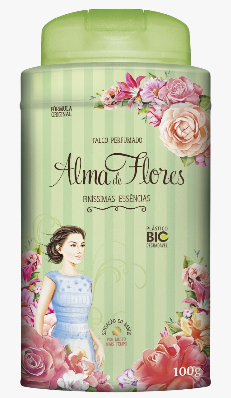 Talco Perfumado Alma de Flores Finíssimas Essências 100g Menphis