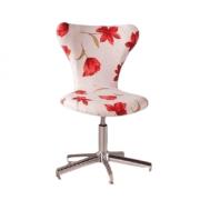 Cadeira 2040 Estofada com Estrela Cromada Floral