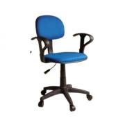 Cadeira de Escritório Secretária Giratória com Braço Regulável