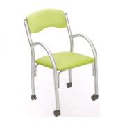 Cadeira Estofada Bruna Prata