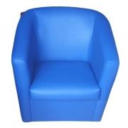Poltrona Ferradura Corino Lisa ALFC1017 Azul