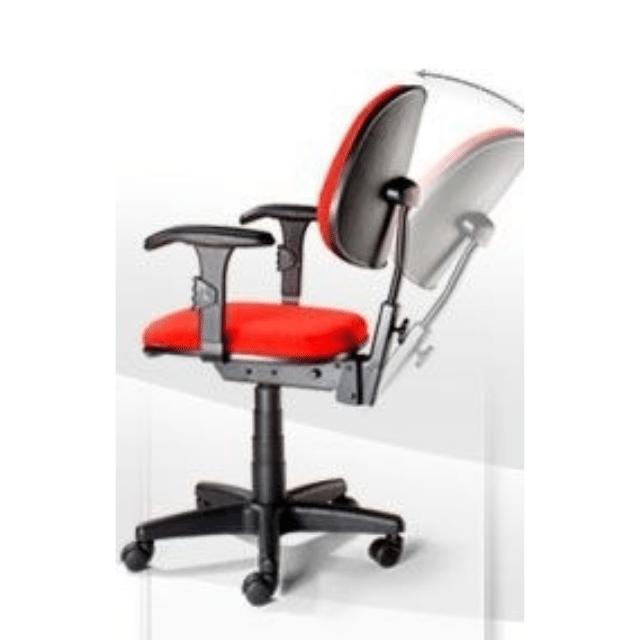 Cadeira Executiva com Braço Vermelho