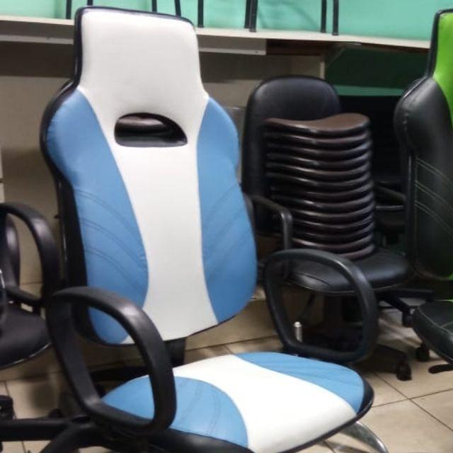 Cadeira Gamer Word Premium AlG-5578  Azul e Branco
