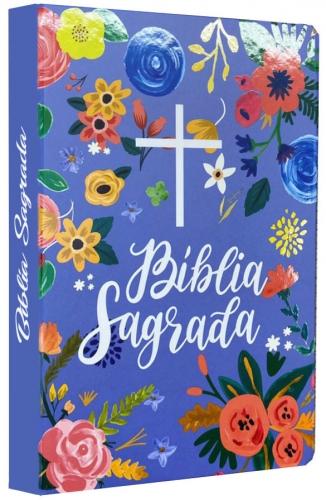 Bíblia Sagrada - Capa Personalizada Céu Azul - Ultra fina Slim - Tamanho Grande - Capa Dura Reforçada - Versão NVT