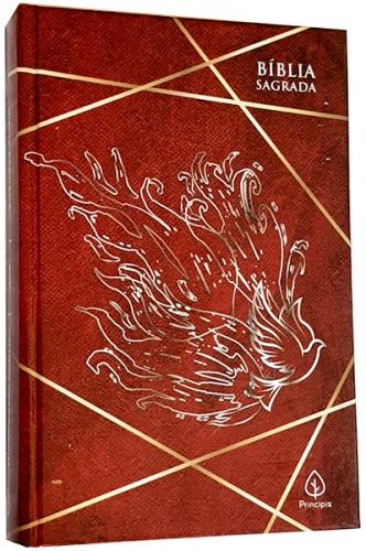 Bíblia Sagrada - Capa Personalizada Cheios do Espírito Santo (Atos 2:4a) - Possui Tamanho Grande - Ultra fina Slim - Versão Almeida Fiel - Capa Dura - ACF