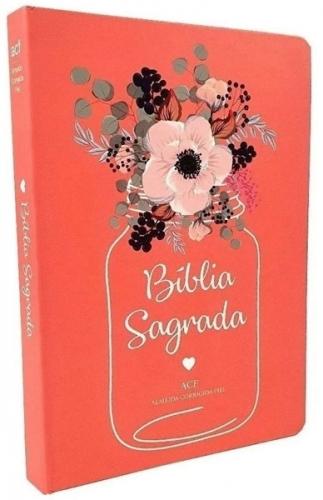 Bíblia Sagrada - Capa Personalizada Flor de Pote - Possui Tamanho Grande - Ultra fina Slim - Versão Almeida Fiel - Capa Dura - ACF