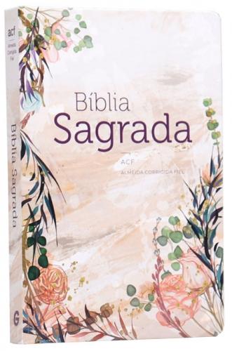 Bíblia Sagrada - Capa Personalizada Flor Marmorizada - Possui Tamanho Grande - Ultra fina Slim - Versão Almeida Fiel - Capa Dura - ACF