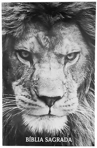 Bíblia Sagrada - Capa Personalizada Leão de Judá - Possui Tamanho Grande - Harpa Cristã - Ultra fina Slim - Almeida Tradicional- Brochura - RC