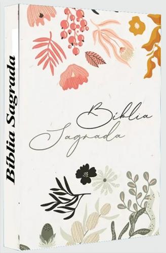 Bíblia Sagrada - Capa Personalizada Mulher que Teme Flores - Possui Tamanho Grande - Ultra fina Slim - Versão Almeida Fiel - Capa Dura - ACF