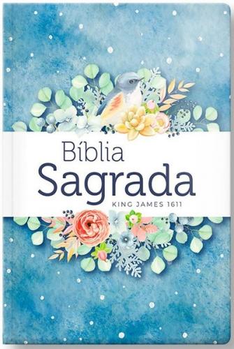 Bíblia Sagrada - Capa Personalizada Pontos de Luz - Tamanho Grande - Ultra Fina Slin - Capa Dura Reforçada - Versão King James Fiel 1611