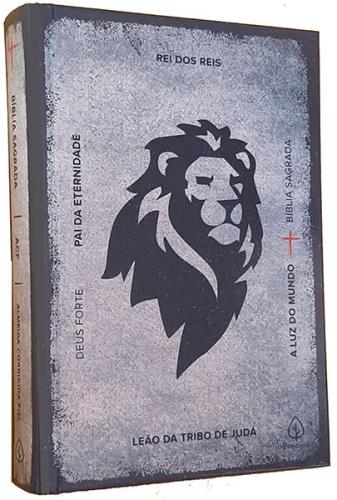 Bíblia Sagrada - Capa Personalizada Rei dos Reis - Possui Tamanho Grande - Ultra fina Slim - Versão Almeida Corrigida Fiel - Capa Dura - ACF