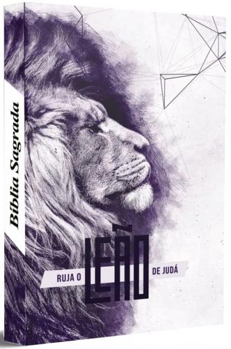 Bíblia Sagrada - Capa Personalizada Ruja o Leão - Possui Tamanho Grande - Ultra fina Slim - Versão Almeida Fiel - Capa Dura - ACF