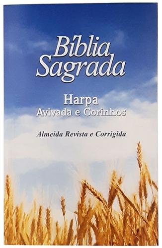 Bíblia Sagrada - Capa Personalizada Trigo - Possui Tamanho Grande - Harpa Cristã - Ultra fina Slim - Almeida Tradicional- Brochura - RC