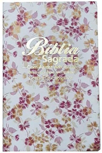 Bíblia Sagrada - LETRAS HIPERGIGANTES - Tamanho Grande - Palavras de Jesus são em Destaque - Almeida Tradicional - Índice na Lateral - Capa Luxo - Floral
