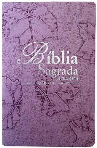 Bíblia Sagrada - Possui LETRAS GIGANTES - Tamanho Grande - Slim Ultra fina - Versão Almeida Tradicional - Luxo - Índice na Lateral - Auxílios - Lilás