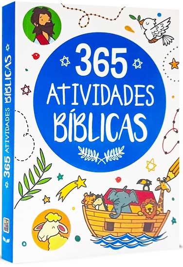Bíblia Infantil Ilustrada - 365 Atividades Bíblicas - Para cada dia do Ano tem 01 Atividade Bíblica - Perfeito para colorir, desvendar labirintos, ligar os pontos, somar e subtrair e muito mais