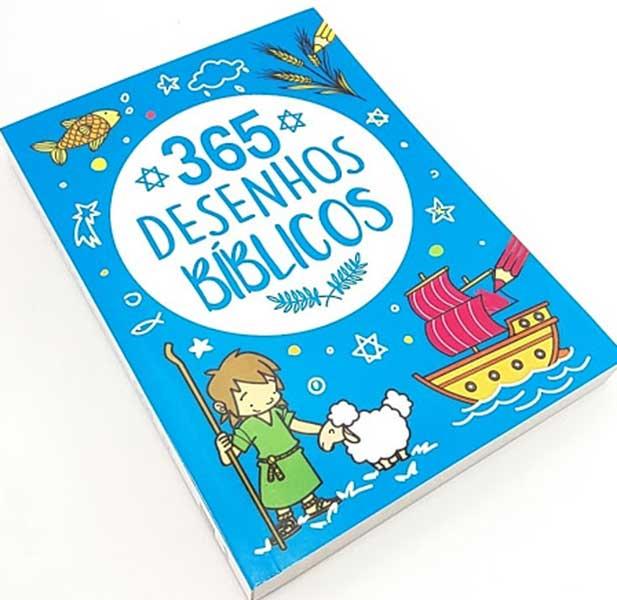 Bíblia Infantil Ilustrada - 365 Desenhos Bíblicos - Para cada dia do Ano tem 01 Desenho Bíblico para Colorir - Divirta-se dando vida a personagens biblicos e seus ensinamentos