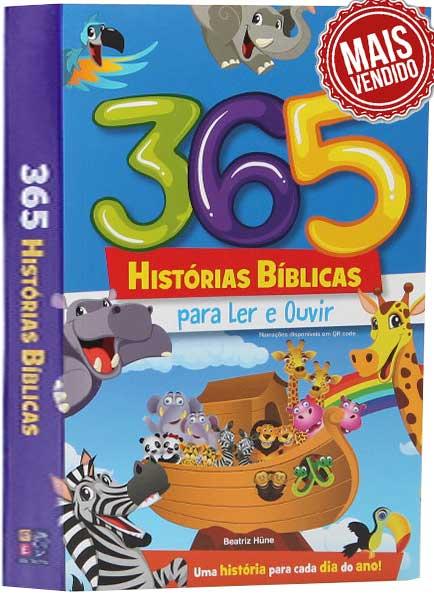 Bíblia Infantil Ilustrada - 365 Histórias Bíblicas - Para cada dia do Ano tem 01 história Bíblica - Com textos curtos e ilustrações com cores vibrantes, é ideal para despertar da Palavra do Senhor