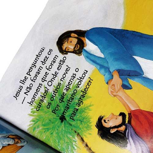 Bíblia Infantil - Ilustrada - - Possui  linguagem simples e ilustrações vibrantes, para enriquecer o vocabulário do pequeno leitor