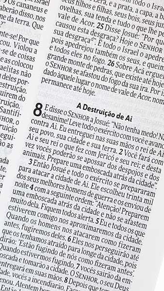 Bíblia Sagrada - Capa Personalizada Isaías 53.4a - Tamanho Grande - Ultra fina Slim - Linguagem Simples para Entendimento - Brochura - Versão NVI