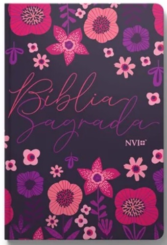 Bíblia Sagrada - Capa Personalizada Jardim Floral - Tamanho Grande - Ultra fina Slim - Linguagem Simples para Entendimento - Capa Dura - Versão NVI