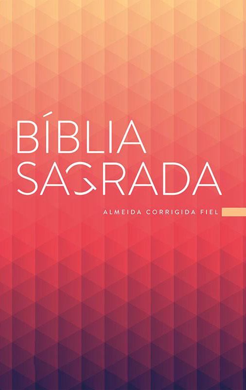 Bíblia Sagrada - Capa Personalizada Prisma Coral - Possui Tamanho Grande - Ultra fina Slim - Versão Almeida Fiel - Capa Brochura - ACF