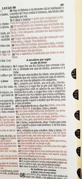 Bíblia Sagrada - LETRAS GIGANTES de fonte pequena - Harpa Cristã - Tamanho Grande -  Palavras em Destaque - Econômica - Almeida - Zíper - Pink 2