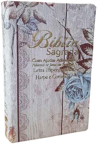 Bíblia Sagrada - LETRAS HIPERGIGANTES - Harpa Cristã - Palavras de Jesus são em Destaque - Almeida Tradicional - Tamanho Grande -  Capa Luxo - Folhas