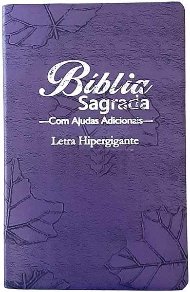 Bíblia Sagrada - LETRAS HIPERGIGANTES - Tamanho Grande - Palavras de Jesus são em Destaque - Almeida Tradicional - Índice na Lateral - Capa Luxo - Uva