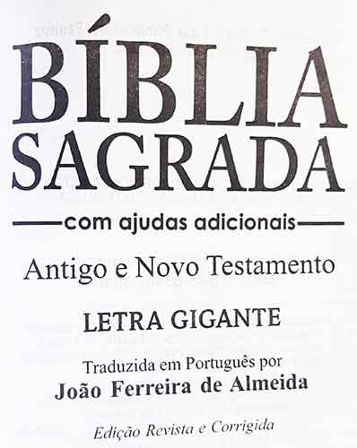 Bíblia Sagrada - Possui LETRAS GIGANTES - Tamanho Grande - Slim Ultra fina - Versão Almeida Tradicional - Zíper - Índice na Lateral - Auxílios - Cobre