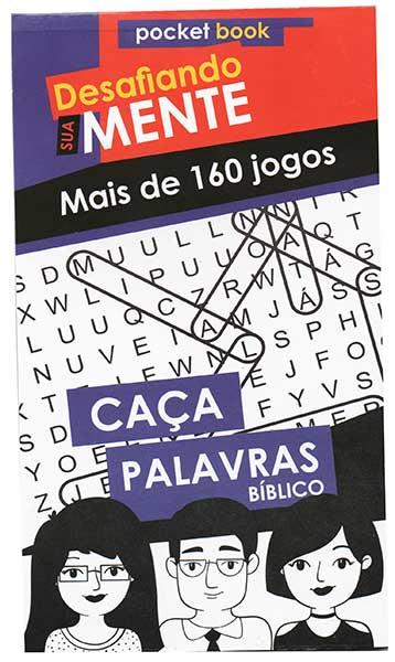 Caça Palavras Bíblico - Exercite e Desafie a sua Mente - Ideal para Gincanas, Revenda ou para seu Dia a Dia - Pocket Book