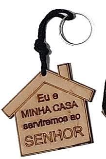 Chaveiro Cristão em MDF - Individual - Feito em Corte a Laser Eletrônico - Mensagens Edificantes - Unitário